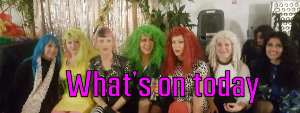 seven girls with brightly coloured hair